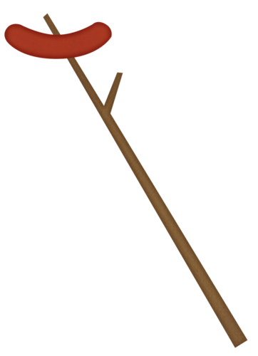 Hot Dog On A Stick Clipart.
