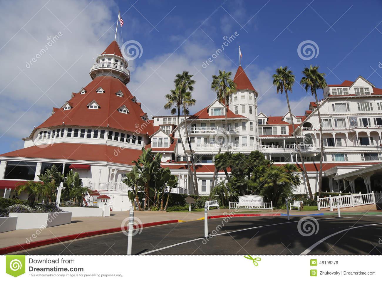 Historic Hotel Del Coronado In San Diego Editorial Stock Image.