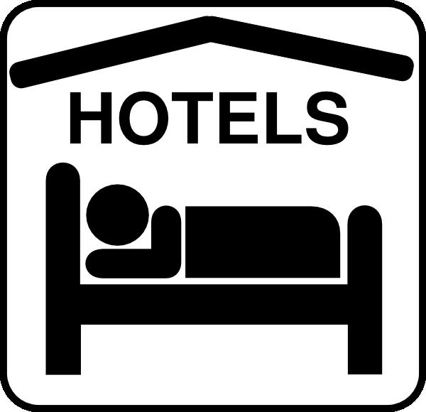 Hotel Sleeping Accomodation Clip Art.