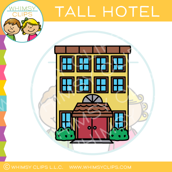 Tall Hotel Clip Art.