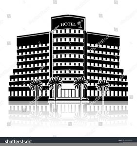 Hotel Clipart Black White.