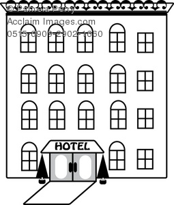 Hotel clipart black and white 1 » Clipart Station.