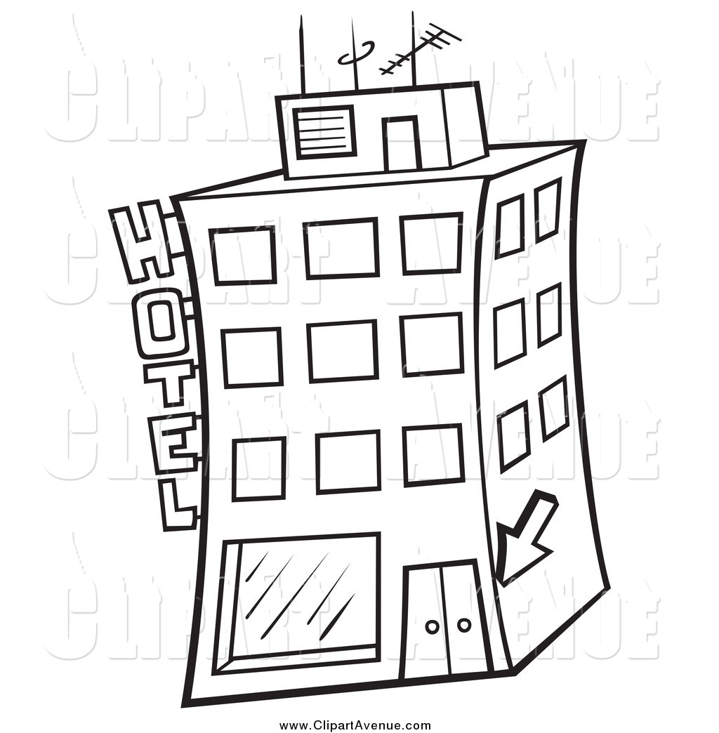 Hotel clipart black and white 3 » Clipart Station.