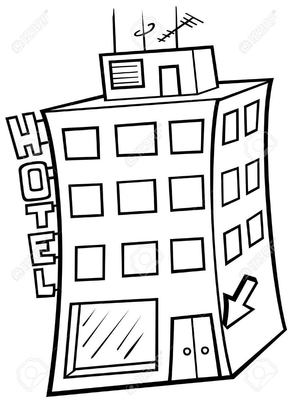 Hotel clipart black and white 7 » Clipart Station.