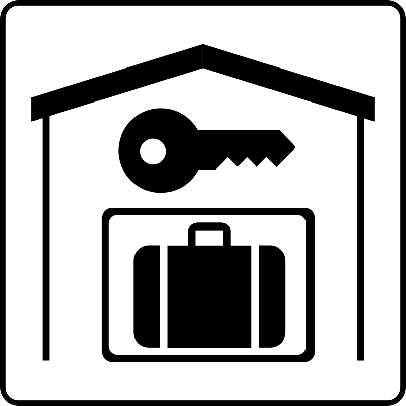 Free Clipart: Hotel Icon Has Secure Storage In Room.