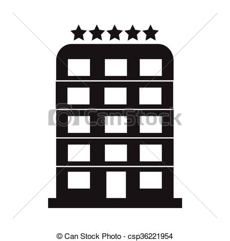Clipart Vector of 5 Star Hotel icon Illustration design.