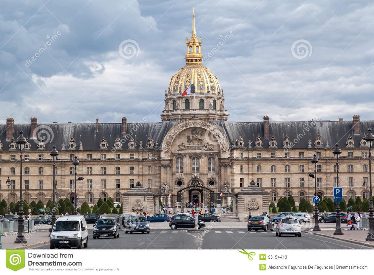 Hotel Des Invalides Paris France Editorial Photo.