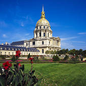 Stock Photography of eglise du dome church of hotel des invalides.