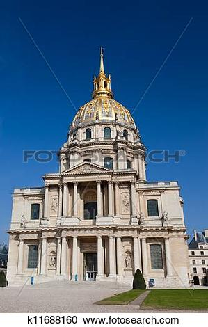 Stock Photography of Church of Hotel des invalides, Paris, France.