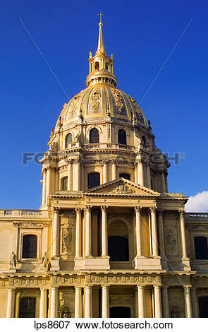 Picture of eglise du dome church of hotel des invalides 18th.