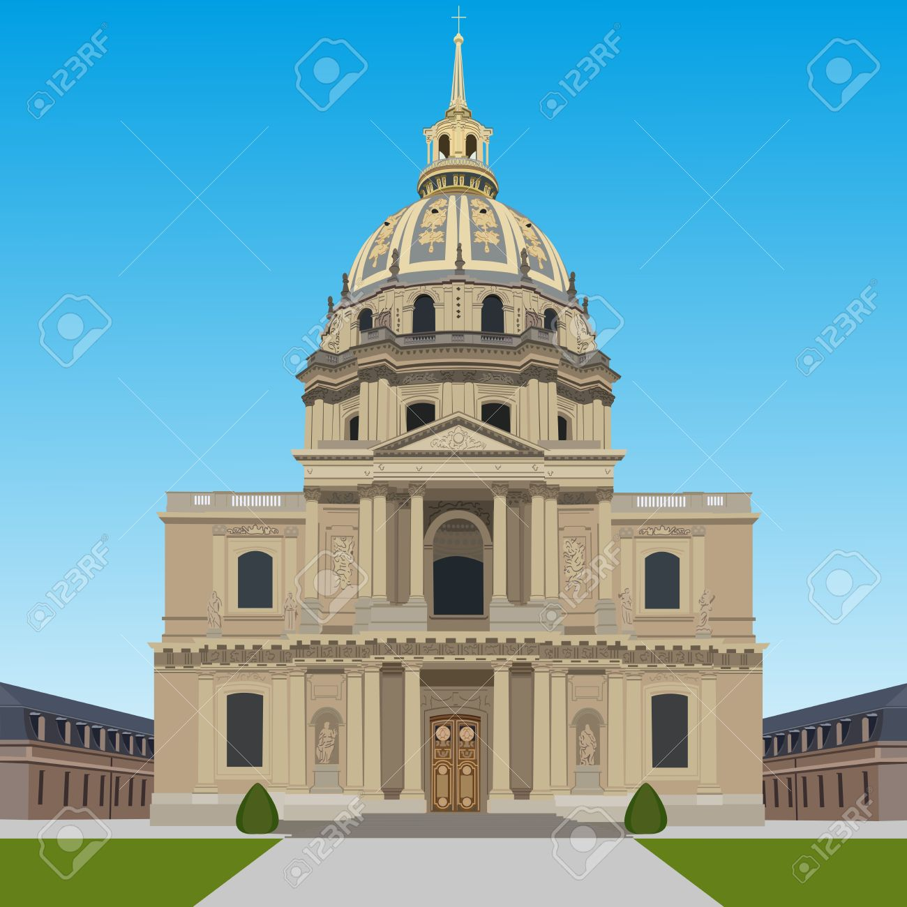Les Invalides Royalty Free Cliparts, Vectors, And Stock.