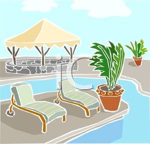 Hotel Swimming Pool Clipart.