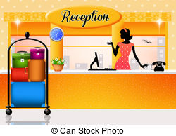 Stock Illustrations of Reception in hotel.
