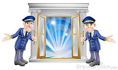 Doorman Stock Illustrations.