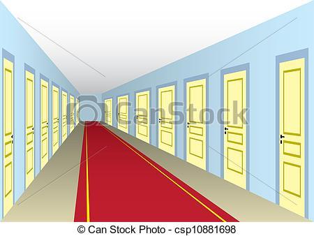 EPS Vectors of Hall with doors.