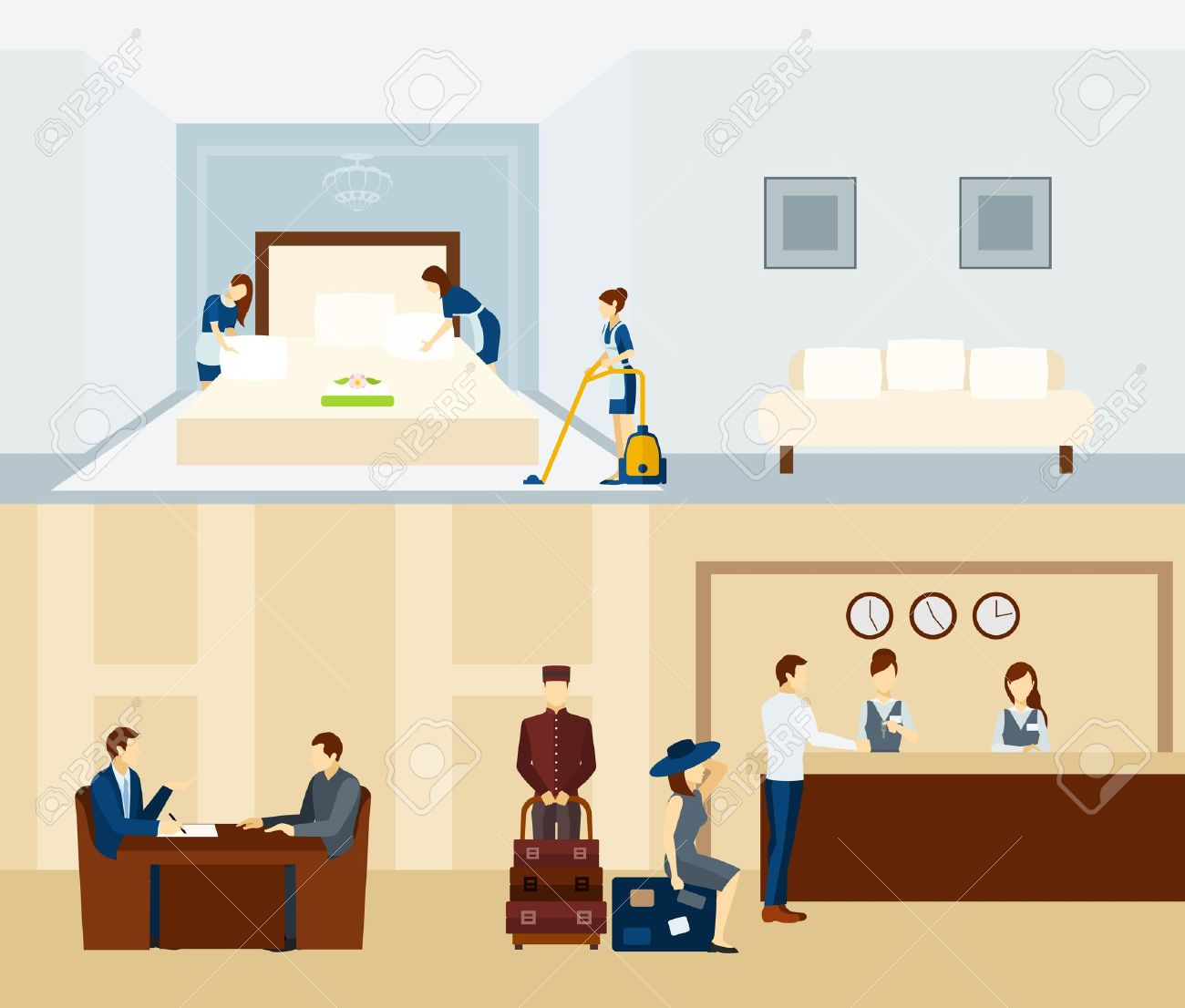 76306 Hotel Stock Vector Illustration And Royalty Free Clipart