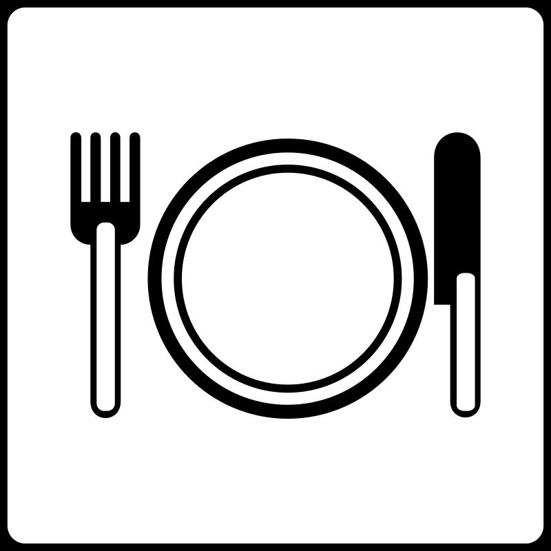 Free Clipart: Hotel Icon Has Restaurant.