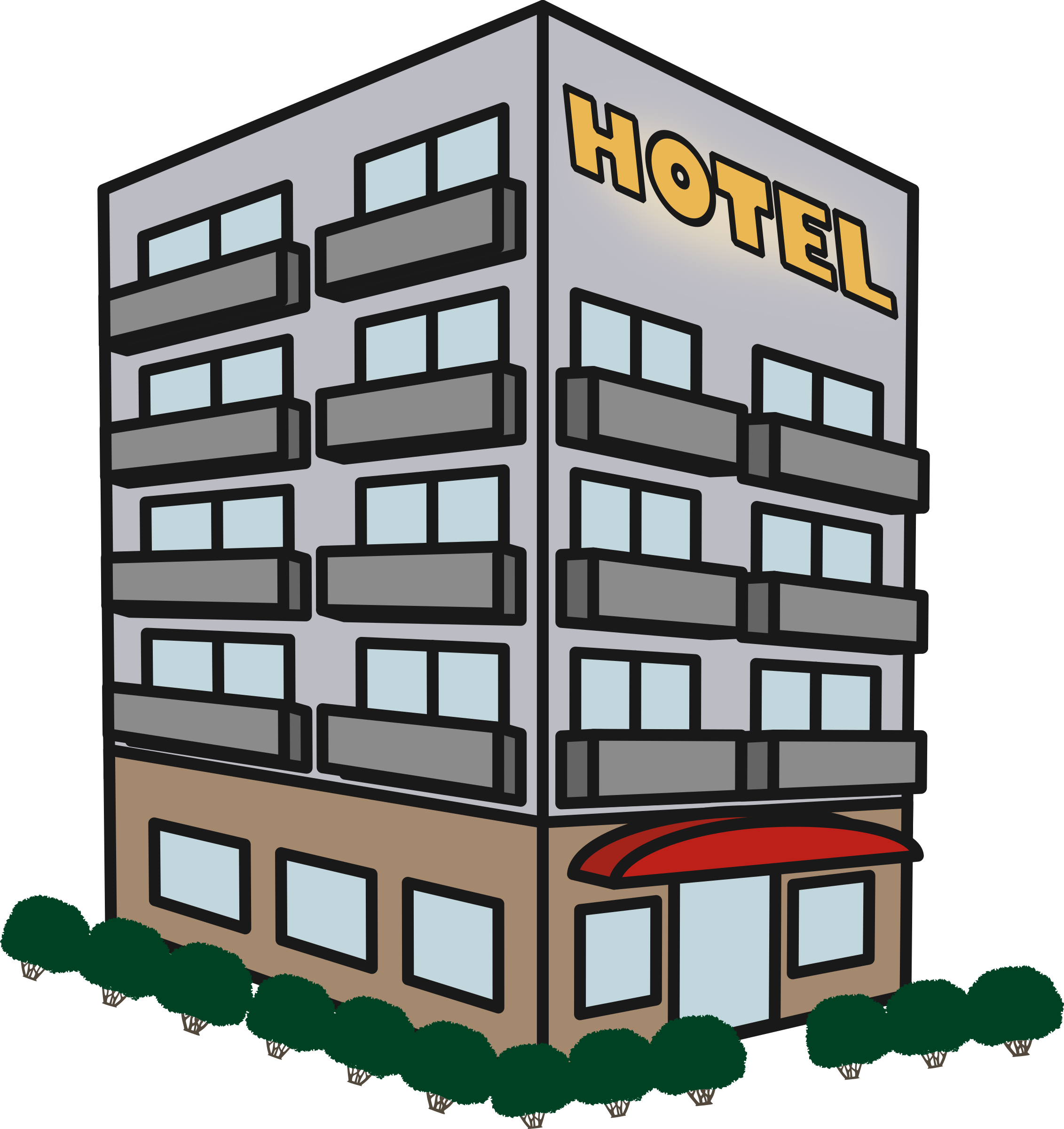 Hotel clipart hotel building, Hotel hotel building.