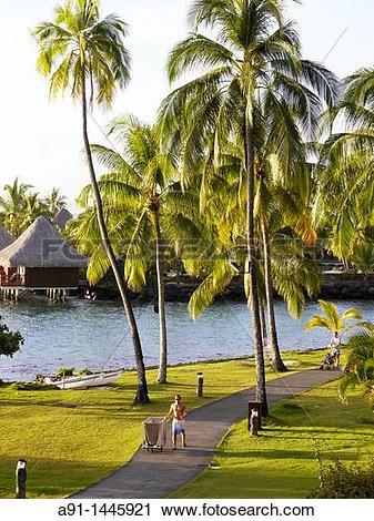 Stock Photography of French Polynesia, leeward islands archipelago.