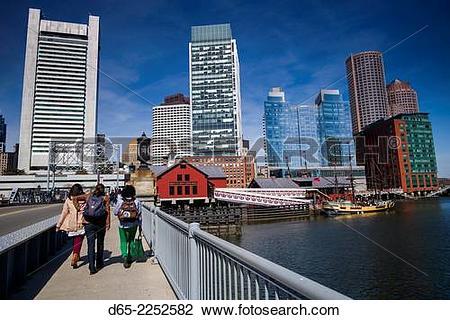 Stock Photo of USA, Massachusetts, Boston, Federal Reserve Bank.