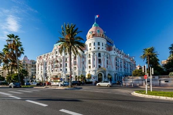 Luxury Hotel Negresco on English Promenade in Nice, French Riviera.