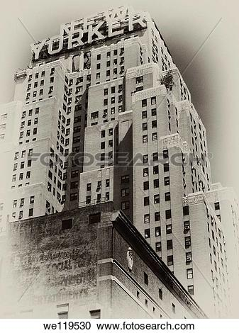 Stock Photography of Vintage New York City postcard: Hotel New.