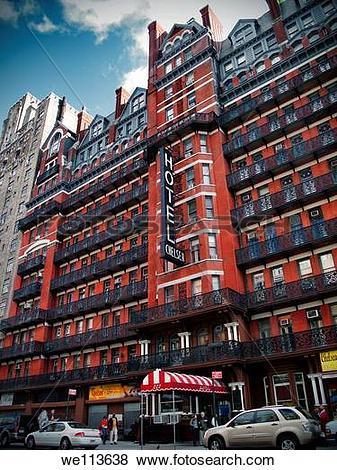 Pictures of The North facade of the Chelsea Hotel, New York.