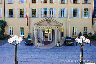 Petersberg Castle, Friesach, Austria Stock Photo.