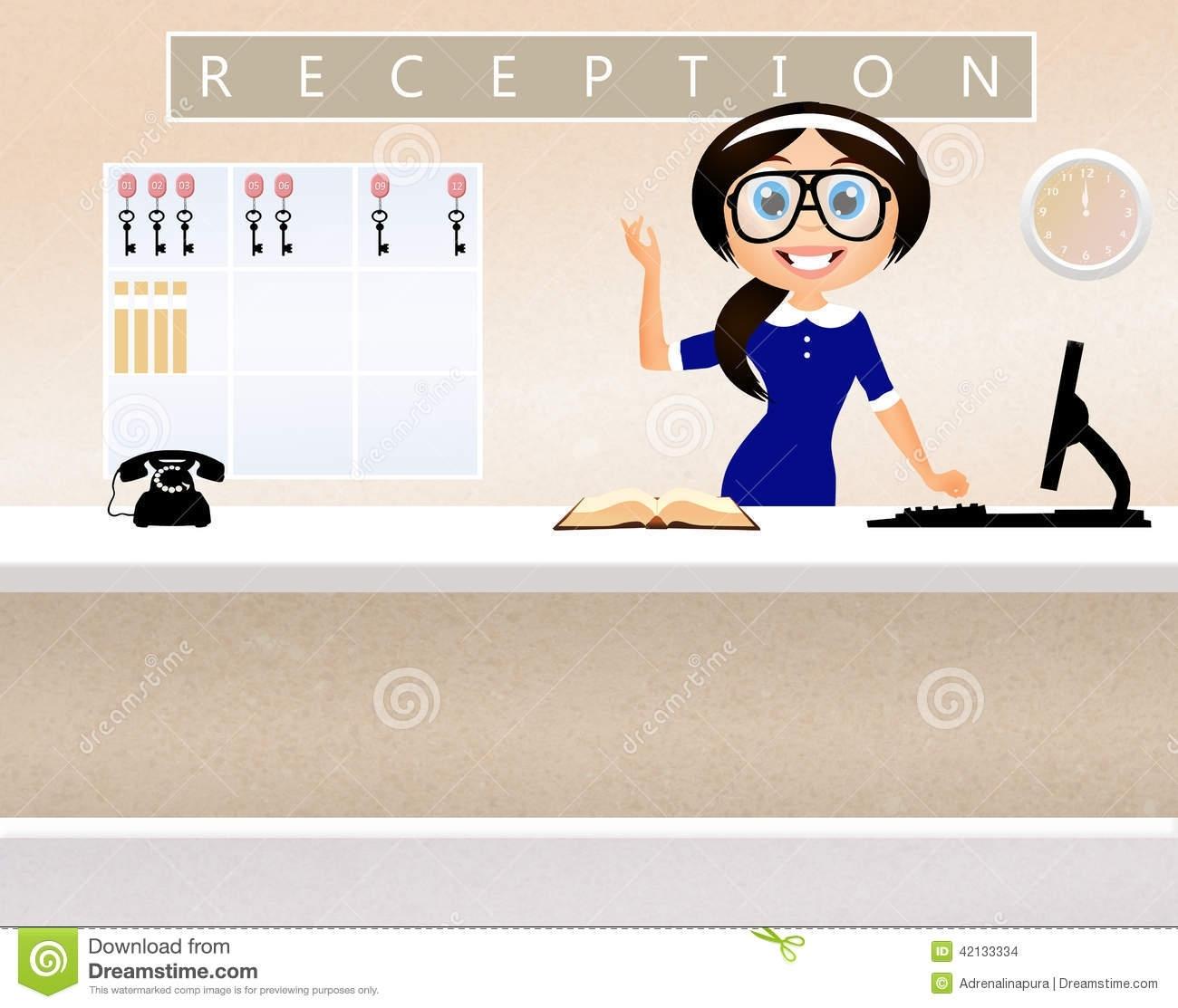 Concierge Desk Clip Art.