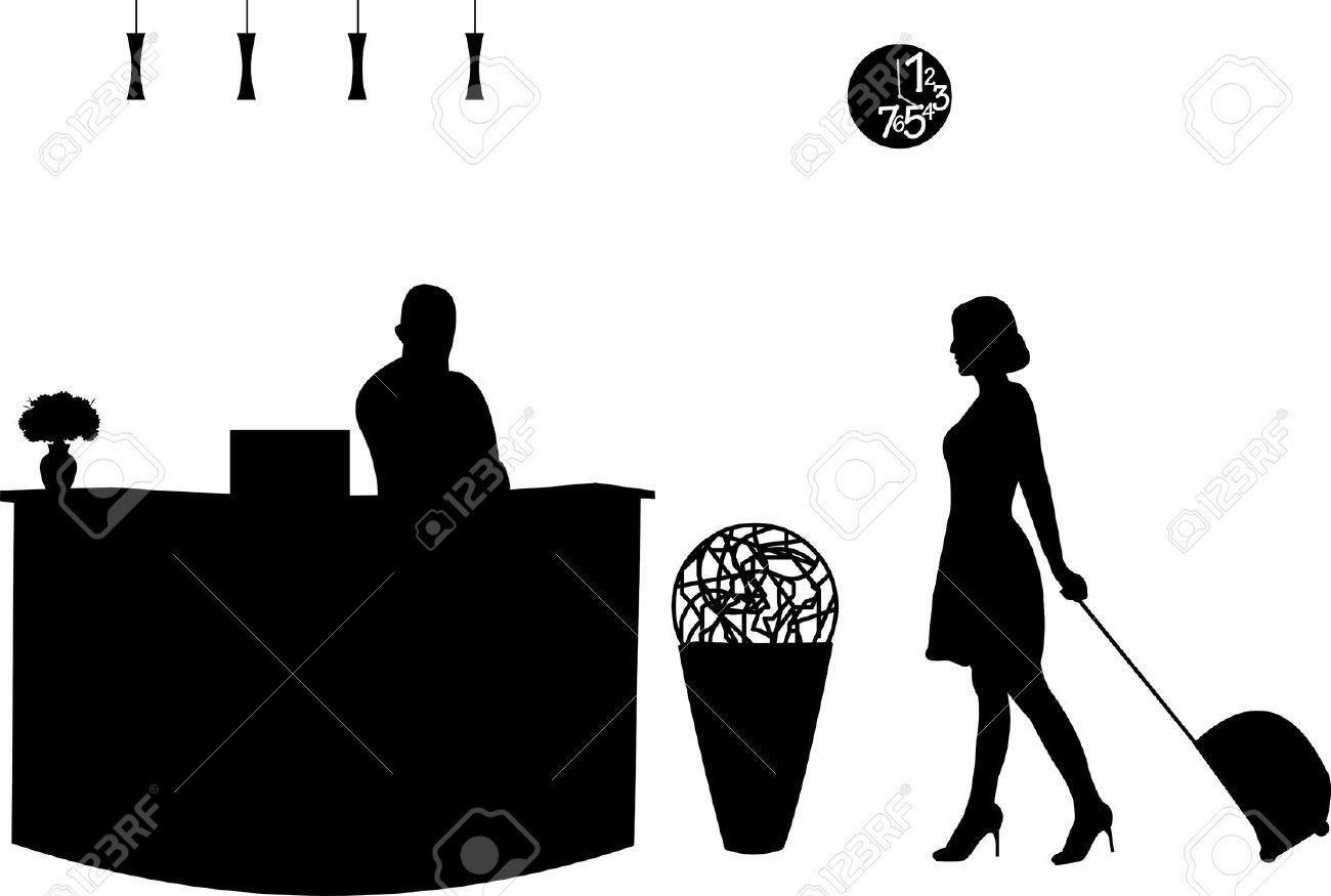 1,875 Hotel Receptionist Stock Vector Illustration And Royalty.