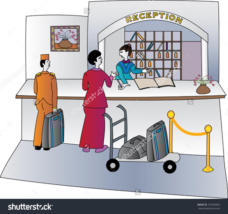 Home Decorators Desk Hotel Reception Clipart Clipground
