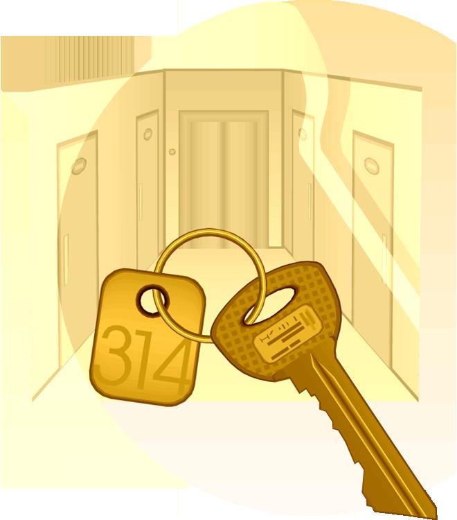 Room key clipart.