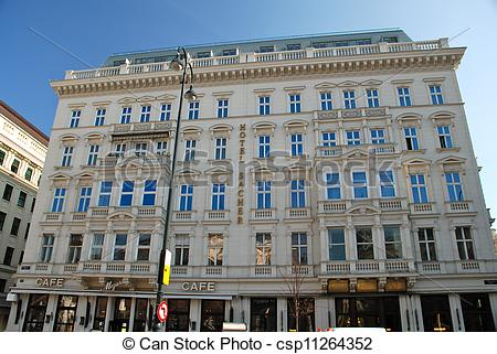 Stock Images of Hotel Sacher in Vienna.