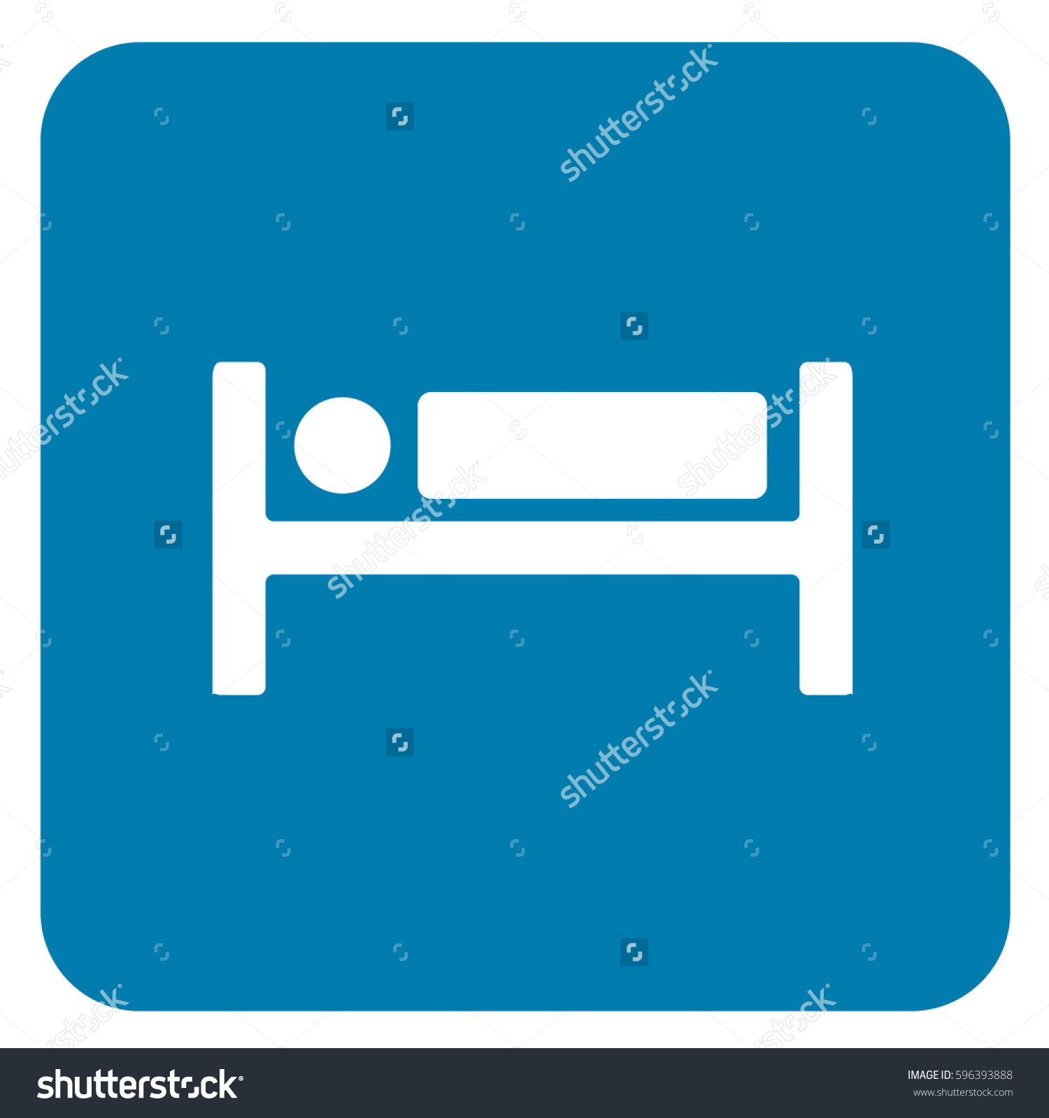 Hotel Sign Blue Vector Stock Vector 596393888.
