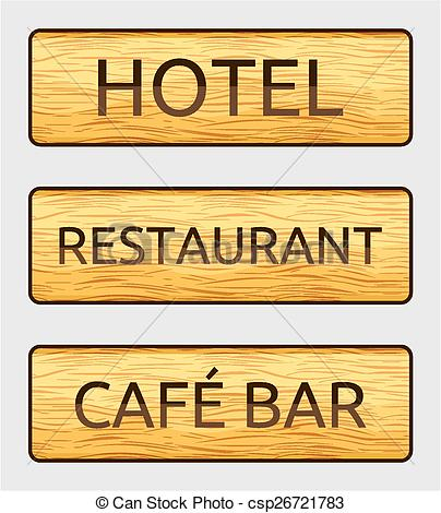 Vector of hotel sign board.