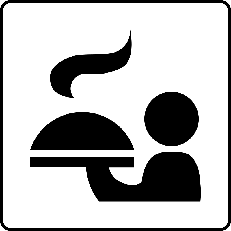Free Clipart: Hotel Icon Has Room Service.