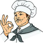 Indian hotel waiter clipart.