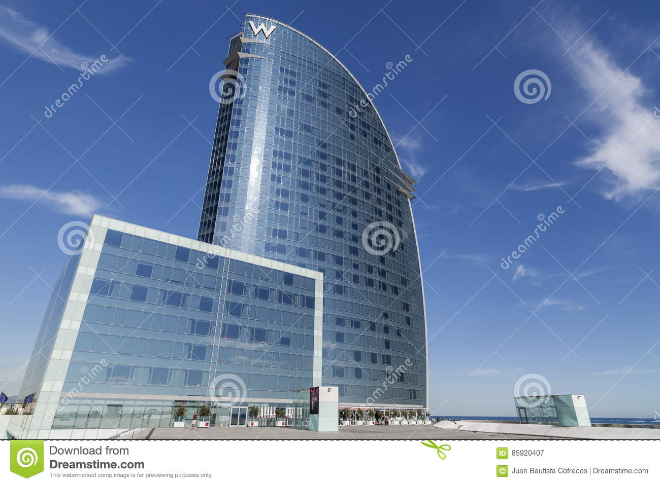 Modern Architecture, Hotel W Or Hotel Vela, By Architect Ricard.