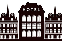 Hotels Stock Illustrations.