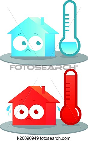 Clipart of hot house.
