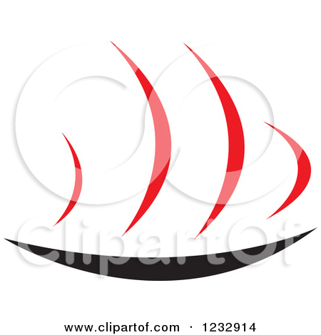Clipart of a Red and Black Hot Plate Logo.