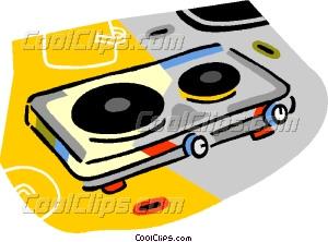 hot plate Vector Clip art.