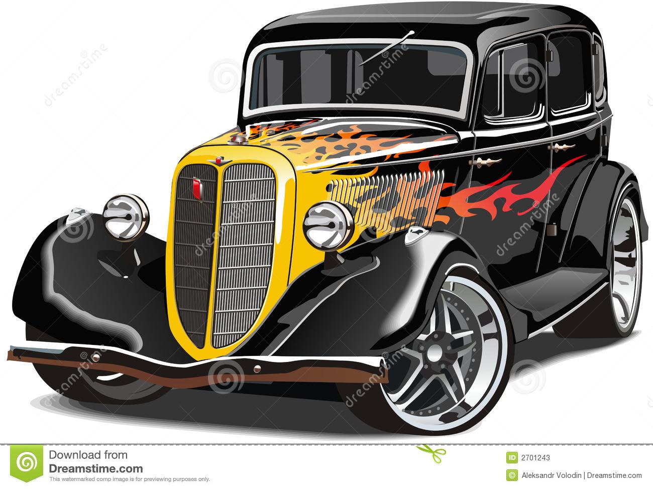 Hot rod cars clipart.