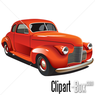 CLIPART OLD STYLE HOT ROD.