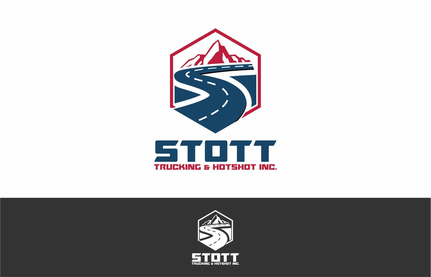 Logo For A Trucking & Hotshot Company.