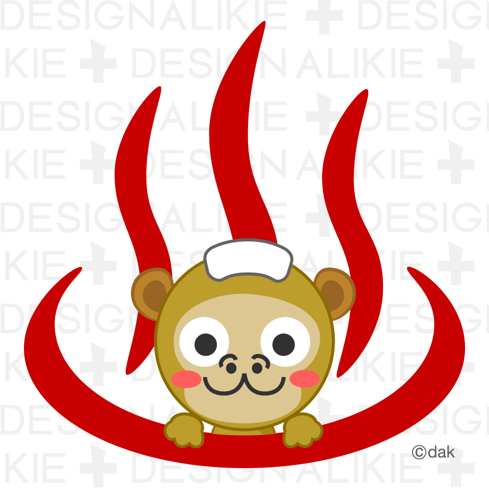Monkey hot springs and mark|Pictures of clipart and graphic.