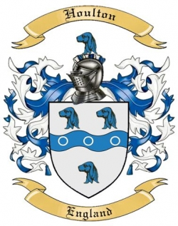 Houlton Family Crest from England by The Tree Maker.