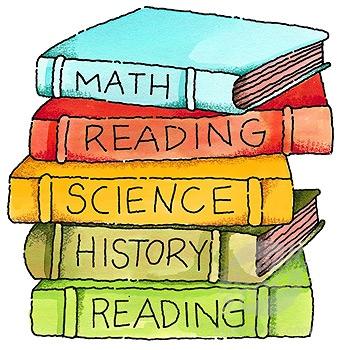 cartoon pictures of school books
