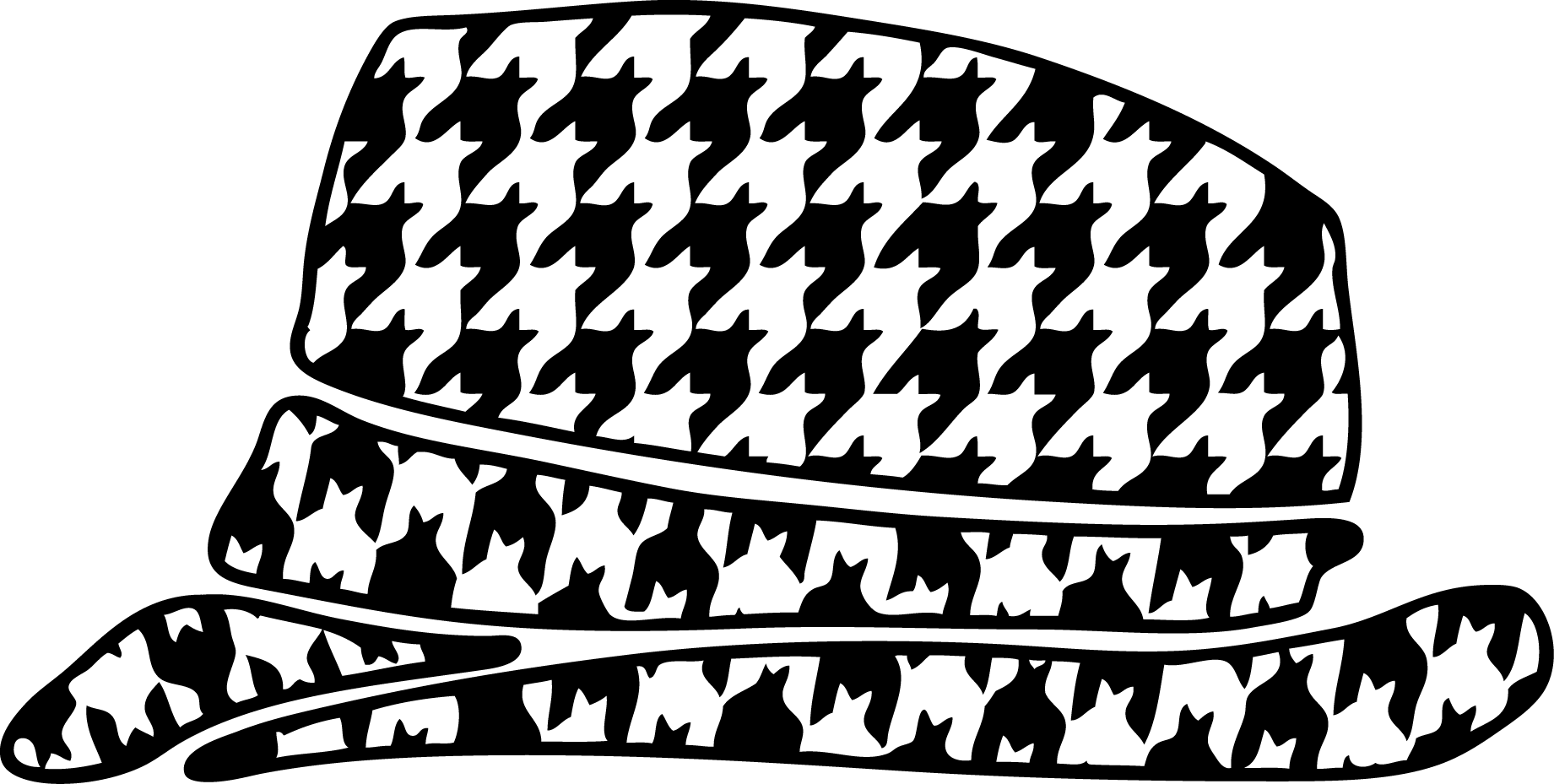 Houndstooth Hat Clipart.