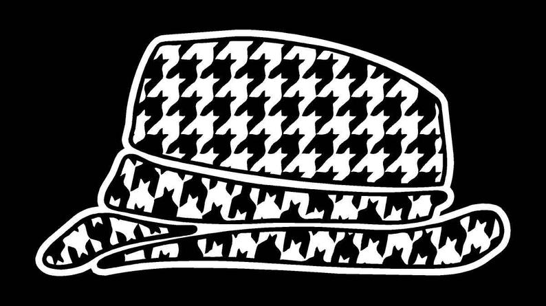Houndstooth Hat Car Decal.